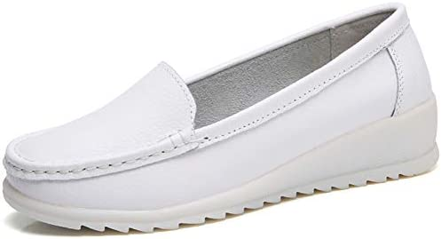 best all white leather nursing shoes