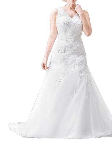 Ethel Women's Applique Beaded Plus Size Wedding Dresses for Bride 3127KLQGi9L home Home 3127KLQGi9L