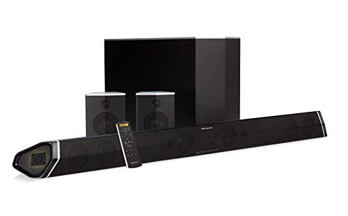 "Nakamichi Shockwafe Pro 7.1Ch 400W 45"" Sound Bar with 8"" Subwoofer (Wireless) & Rear Satellite Speakers"