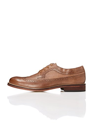 Uomo FIND Tan Scarpe Derby Marrone wXE6nOaZ