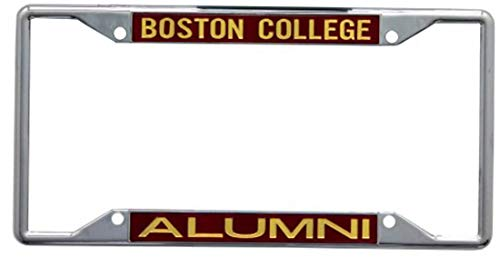 Wincraft Boston College Alumni Premium License Plate Frame, Chrome Plated with Mirror Finish Letters
