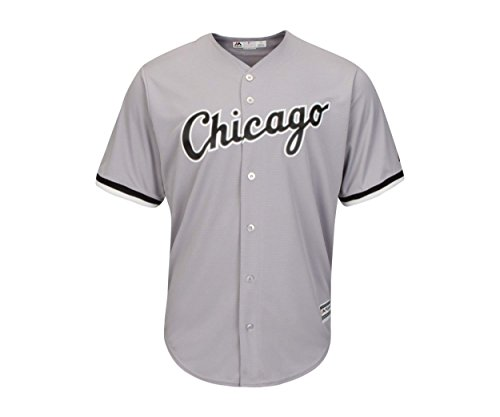 Chicago White Sox Word Mark Gray Youth Cool Base Road Replica Jersey (Large 14/16)