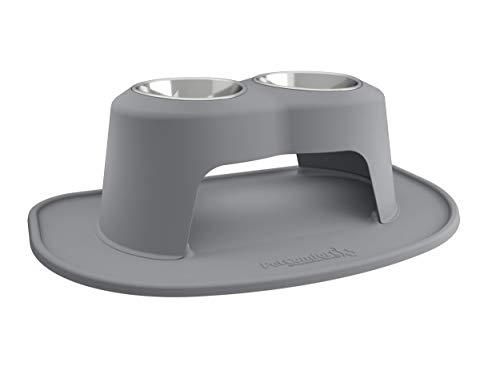 PetComfort Double High Feeding System with XL Mat (10