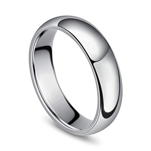 Sj Fashion 6mm Tungsten Men's Plain Dome Polished Wedding Band Ring Size T