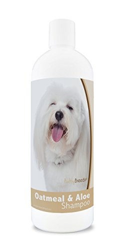 Healthy Breeds Dog Shampoo Oatmeal with Aloe for Coton De Tulear - Over 200 Breeds - 16 oz - Mild & Gentle for Sensitive Skin - Hypoallergenic Formula & pH Balanced