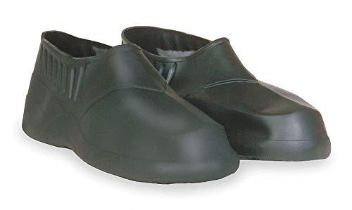 5''H Men x27;s Overshoes, Plain Toe Type, PVC/Vinyl Upper Material, Black, Fits Shoe Size 13 to 14