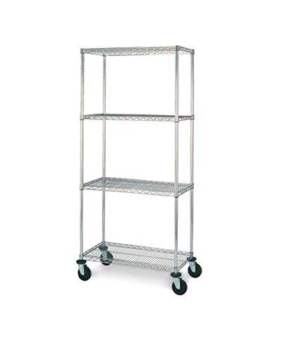 (Olympic 24 in. Deep 4-Shelf Mobile Cart - Chrome (30 in. W x 68 in. H))