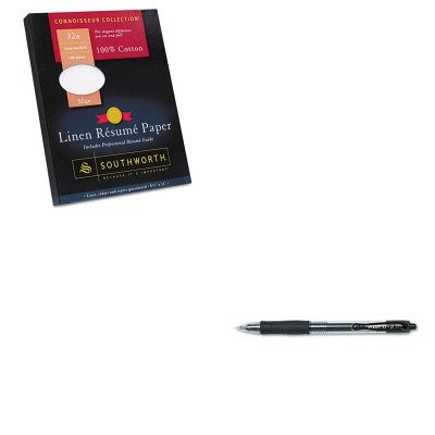 KITPIL31020SOURD18BCFLN - Value Kit - Southworth 100% Cotton Linen Resume Paper (SOURD18BCFLN) and Pilot G2 Gel Ink Pen (PIL31020) (Paper Southworth Resume Linen)