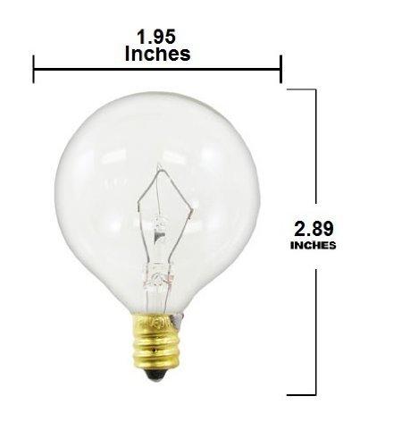 60 Watt Candelabra Light Bulbs: 60-watt G16.5 Decorative Globe E12 Candelabra Base Light