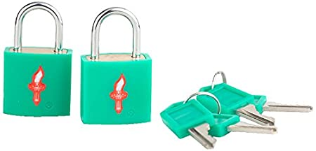 Safe Skies TSA Approved Luggage Locks Ultra-Secure Key Travel Locks with Alloy Body 2 Pack Safe Skies TSA luggage locks 82a