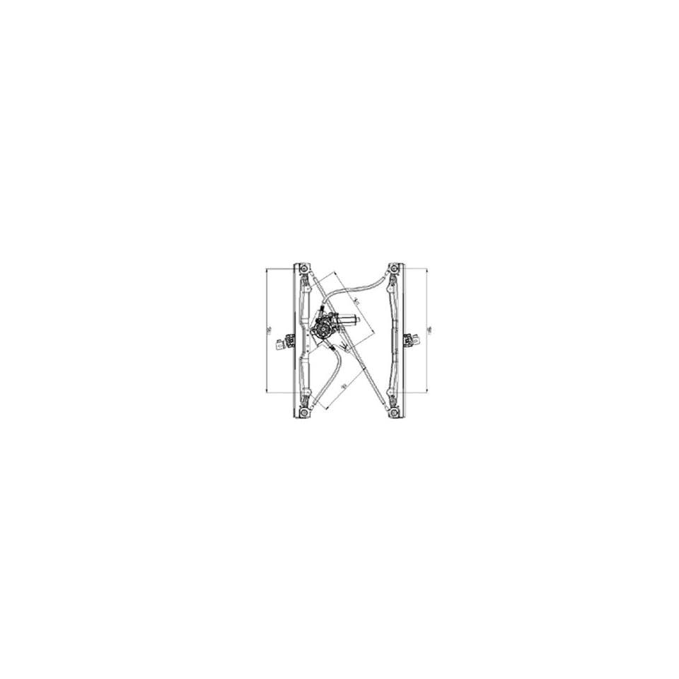 OE Replacement Ford/Mercury Front Passenger Side Door Glass Regulator (Partslink Number FO1351141)