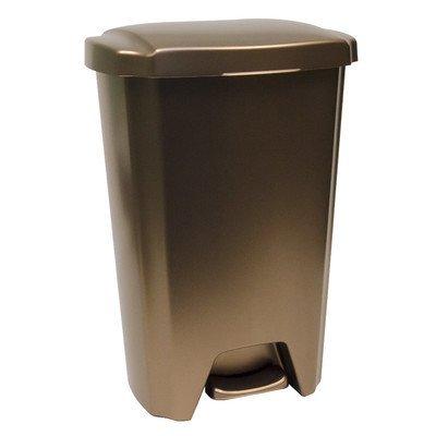 amazon com hefty 13 gallon step on trash can bronze 1 home rh amazon com  bronze colored kitchen trash cans