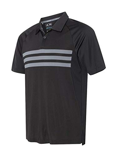 adidas Mens Climacool 3-Stripes Sport Shirt (A224) -Black/Vist ()