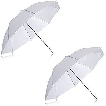 """Neewer 2 Pack 33""""/84cm White Translucent Soft Umbrella for Photo and Video Studio Shooting"""