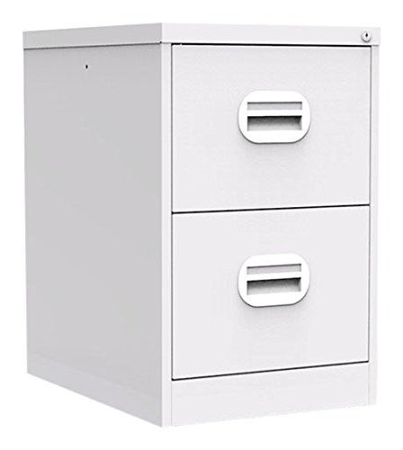 Simply Office FILEE2LGR 30 kg 2 Drawer Steel Filing Cabinet - Light Grey Silverline
