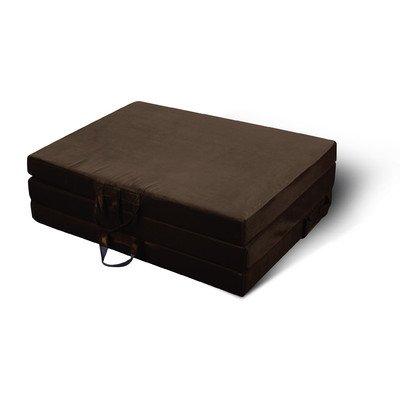 Jordan Manufacturing 9994PK1-CHOC Twin Trifold in Chocolate Mat