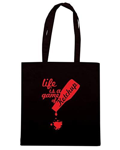 KETCHUP IS LIFE Speed Nera Shirt Shopper OLDENG00568 Borsa 0wxn8Tqa