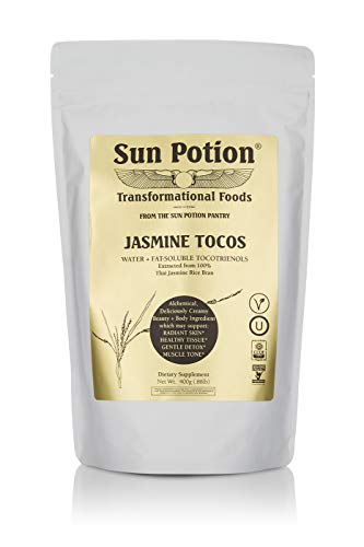 Jasmine TOCOS Powder 400g by Sun Potion - Organic Rice Bran Solubles - Tocotrienols Ultimate Superfood High in Vitamin E Promotes Healthy Skin Care Connective Tissue and Muscle - Raw, Pure, Non-GMO by Sun Potion (Image #3)