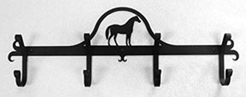 Iron Coat Rack-Towel Rack Bar Horse - 24' Heavy Duty Metal Coat Hooks - Hat Rack, Coat Rail Or Garmet Rack