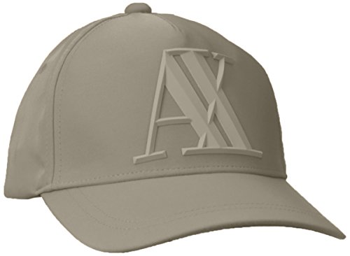 Armani Exchange Men's 3D Rubber AX Tonal Logo Hat, Wren, UNI