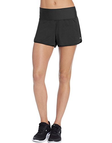 Champion Women's Absolute Training Short with SmoothTec Waistband, Black, M