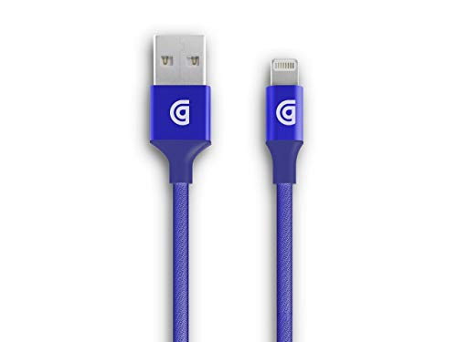 Griffin, Premium Braided Lightning Cable, 5ft, MFI Certified, Long Lasting Cable, Blue