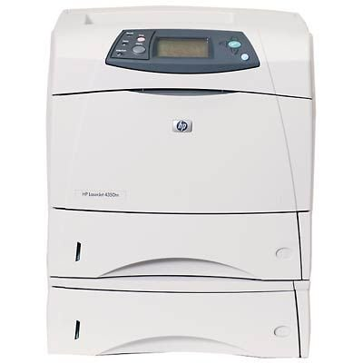 HP LaserJet 4350tn - Printer - B/W - laser - Legal, A4 - 1200 dpi x 1200 dpi - up to 52 ppm - capacity: 1100 sheets - Parallel, USB, 10/100Base-TX