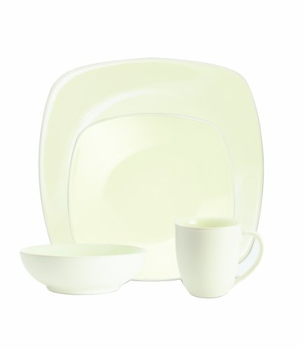 Noritake Colorwave White 4-Piece Square Place Setting by Noritake