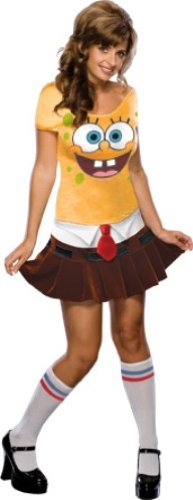 [Secret Wishes Women's Sponge Babe Costume, Yellow, XS (2/4)] (Tv Character Costumes For Sale)
