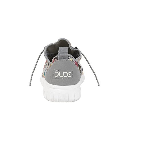 Dude Shoes Men's Renova Etno Grey Brown Urban Trainer Grey