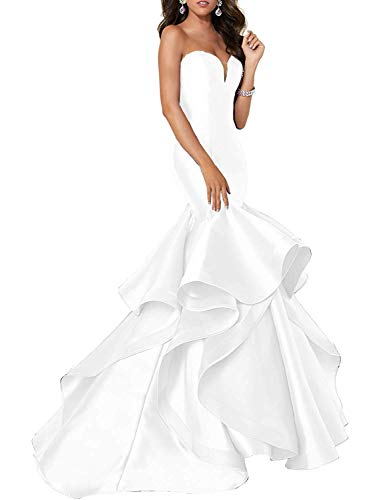 - Prom Dress Long Evening Gown Mermaid Trumpet Prom Gown Strapless Sweetheart Evening Dress