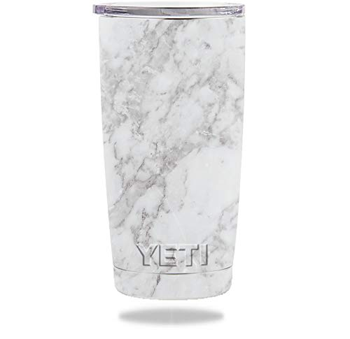 (MightySkins Skin Compatible with YETI 20 oz Tumbler - Frost Marble | Protective, Durable, and Unique Vinyl Decal wrap Cover | Easy to Apply, Remove, and Change Styles | Made)