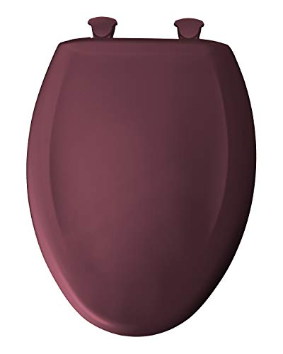 Bemis 1200SLOWT 373 Lift-Off Plastic Elongated Slow-Close Toilet Seat, Loganberry
