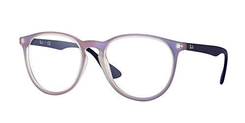 Ray-Ban Eyeglasses RX7046 5486 Violet Iridescent 51 18 - Round Ray Eyeglasses Ban