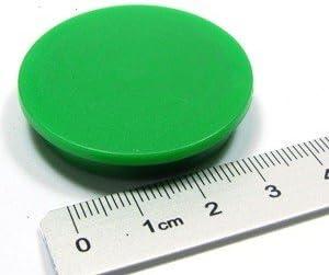 Tafelmagnet Pinnwandmagnet h/ält 1,2 kg gr/ün f/ür Whiteboard B/üro Lager B/üromagnet Memomagnet /Ø 40 x 8 mm FERRIT