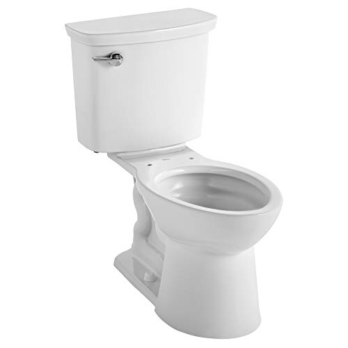 American Standard 238AA114CP.020 VorMax Plus Ultra-High Efficiency Right Height Elongated Toilet, White, 30.2 in wide x 17.9 in tall x 32.2 in deep