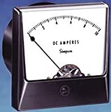 Analog Panel Meter, Black Spade Type Pointer, AC Current, 0A to 10A