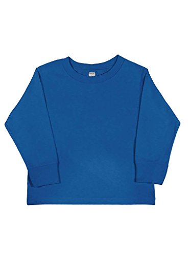 Blue Rabbit (Rabbit Skins 100% Cotton Blank Toddler Long Sleeve Cotton Tee [Size 3T] Royal Blue Long Sleeve T-Shirt)