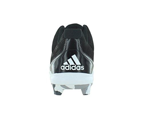 Chaussures De Baseball Et Softball Adidas Wheelhouse 2 Mi Bsbl Hommes Noir / Blanc / Argent