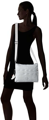 Kipling Alvar, Bolso Bandolera para Mujer, Talla Única Gris (Dazz Grey)