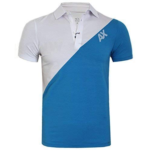 b88a53bf6 Armani Exchange Hombre Suave Elastano Mix Doble Color Polo Camiseta Todos  Colores S