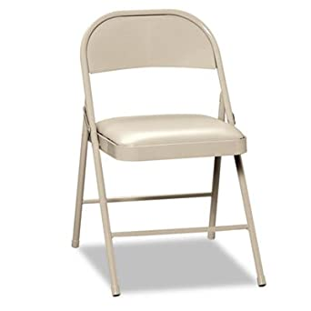 92bc52d8701e Amazon.com: Hon FC02LBG Steel Fold Chair with Pad Seat, 16.8