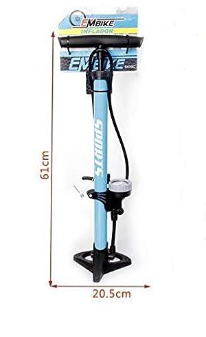 Bike EM Bomba Inflador de Deportes con Manómetro Profesional para Bicicletas y Motocicletas.