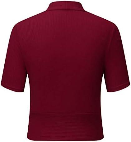 SALUCIA damski t-shirt z dzianiny i dekoltem w kształcie litery V, z krÓtkim rękawem, krÓj slim fit: Odzież