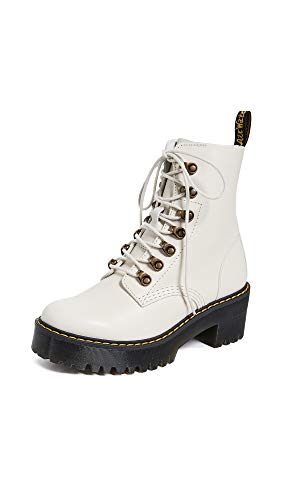 (Dr. Martens Women's Leona Fashion Boot, Bone, 8 Medium UK (10 US) )