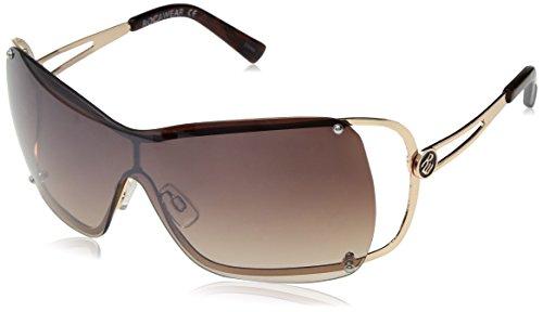 Rocawear Women's R650 Gldts Shield Sunglasses, Gold Tortoise, 72 ()