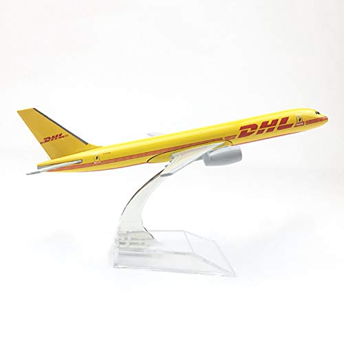 Marreto 1/400 Scale Aircraft B757 DHL Cargo 16Cm Alloy Plane Boeing 757 Model Toys Children Kids Gift for Collection