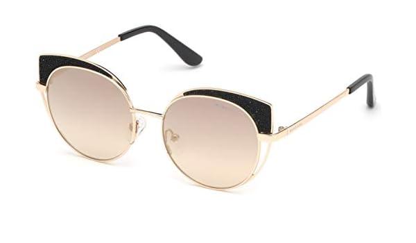 Guess By Marciano GM0755 Sunglasses 57 90C Shiny Blue Smoke Mirror
