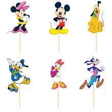 Disney Minnie Mickey Mouse Dessert Muffin Cupcake Toppers for Wedding Baby Shower Birthday Party (Pack of 24)