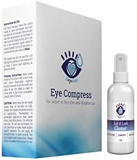 Stye Relief Kit - Heyedrate Lid and Lash Cleanser 1 Ounce and Heyedrate Warm Compress Eye Mask